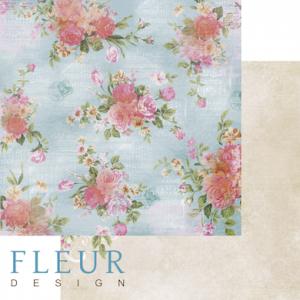 """Дизайнерски лист хартия """"Gardenia"""", 30.5см, """"Summer Garden"""", Fleur Design"""
