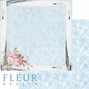 """Дизайнерски лист хартия """"Flower Frame"""", 30.5см, """"Summer Garden"""", Fleur Design"""