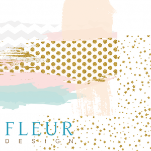 "Дизайнерски лист хартия ""Mix"", 30.5х30.5см, ""Lovely girl"", Fleur Design"