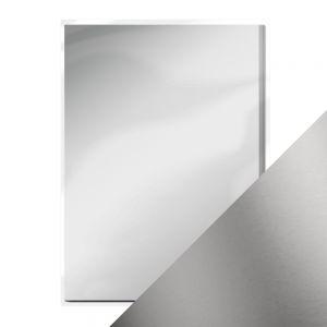 "Огледален картон ""Frosted Silver"", 5л., A4, 250гр."