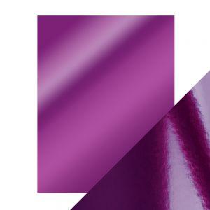"""Огледален картон """"Electric Purple"""", 5л., A4, 250гр."""