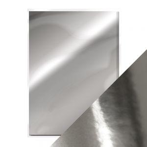 """Огледален картон """"Chrome Silver"""", 5л., A4, 250гр."""
