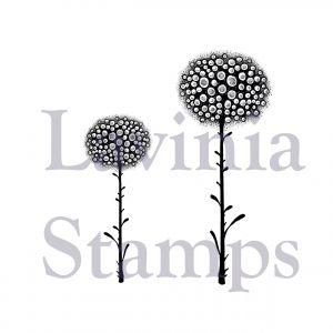 """Прозрачен печат """"Светещи цветя"""", Lavinia Stamps"""