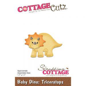 """Щанци за изрязване """"Бебе Дино трицератопс"""", Cottage Cutz"""