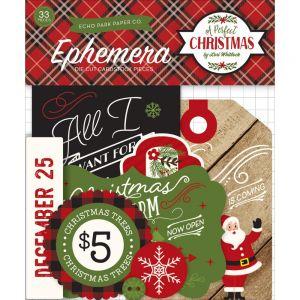 """Дизайнерски хартиени елементи """"Перфектната Коледа"""", Echo Park"""
