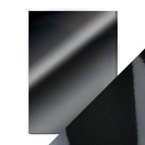 "Огледален картон ""Glossy Black"", 5л., A4, 250гр."