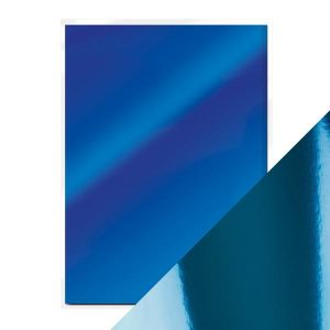 "Огледален картон ""Imperial Blue"", 5л., A4, 250гр."