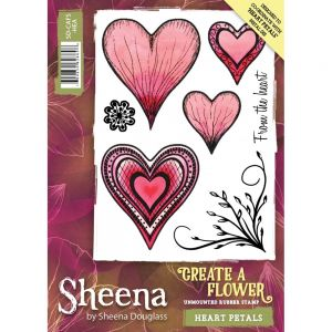 "Комплект гумени печати без подложка ""Heart Petals"", Crafter's Companion"