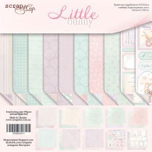 """Комплект дизайнерски хартии """"Little Bunny"""", 30.5см, Scrapmir"""