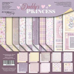 """Комплект дизайнерски хартии """"Daddy's Princess"""", 30.5см, Scrapmir"""