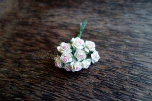 Рози, розово-бели, 10мм