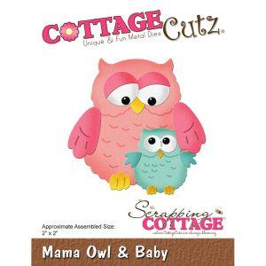 """Щанци за изрязване """"Бухалче и мама"""", Cottage Cutz"""