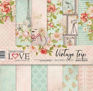"""Дизайнерски комплект хартии """"Винтидж пътуване"""", 30см, Laserowe Love"""