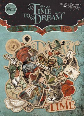 "Дизайнерски хартиени елементи ""Time to Dream"", Scrapmir"