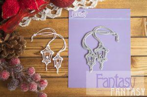 """Дизайнерска щанца за изрязване """"Фонари чудес и волшебства"""", Fantasy Dies"""