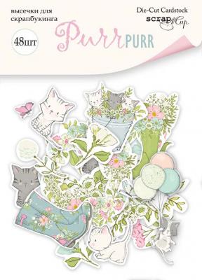 """Дизайнерски хартиени елементи """"Pur Pur"""", Scrapmir"""