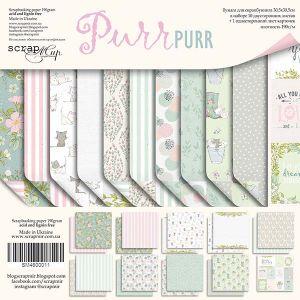 """Комплект дизайнерски хартии """"Pur Pur"""", 30см, Scrapmir"""