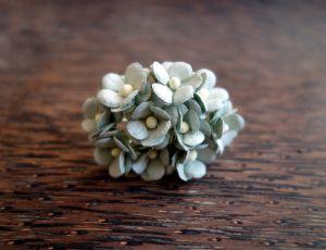 Цветенца, резедаво-сиви, 15мм