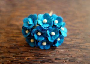 Цветенца, синьо-зелени, 15мм