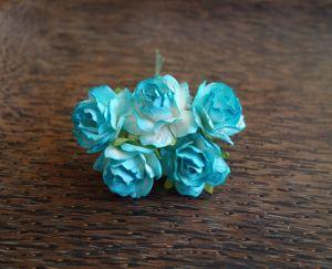 Пухкави тюркоазени рози, 30мм