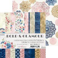 "Дизайнерски комплект хартии ""Bold & Glamour"", 15см, Craft o'Clock"