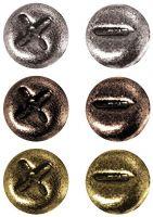 Метални брадсове - винтове, антични цветове, 99бр., 2мм, Idea-Ology