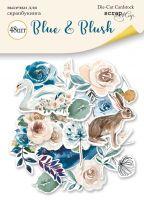 """Дизайнерски хартиени елементи """"Blue & Blush"""", Scrapmir"""