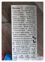 """Дизайнерски стикери с надписи """"Бебешки приключения"""" на прозрачен фон"""