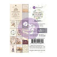 "Дизайнерски АТС карти ""Spring Farmhouse"", 7.5см х 10см, Prima Marketing"