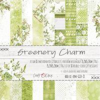 "Дизайнерски комплект хартии ""Greenery Charm'"", 15см, Craft o'Clock"