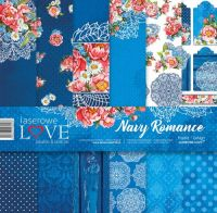 "Дизайнерски комплект хартии ""Романтика в синьо"", 30см, Laserowe Love"