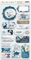 "Дизайнерски чипборд елементи ""Blue & Blush"", Scrapmir"