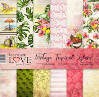 """Дизайнерски комплект хартии """"Тропически остров"""", 30см, Laserowe Love"""