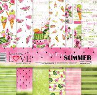 """Дизайнерски комплект хартии """"Лято и дини"""", 30см, Laserowe Love"""
