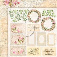 """Дизайнерски лист хартия """"Дом на рози""""- extra -2 - 30.5см, Lemoncraft"""