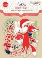 "Дизайнерски хартиени елементи ""Hello Christmas"", Scrapmir"