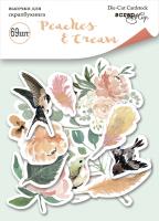 "Дизайнерски хартиени елементи ""Peaches & Cream"", Scrapmir"