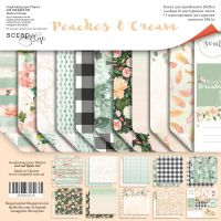 "Комплект дизайнерски хартии ""Peaches & Cream"", 20см, Scrapmir"