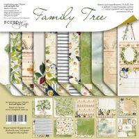"""Комплект дизайнерски хартии """"Family Tree"""", 30см, Scrapmir"""