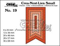 Комплект щанци за изрязване на банери - вариант 19, Crealies