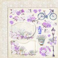 "Дизайнерски лист хартия ""My sweet Provence"" -3 - 30.5см, Lemoncraft"