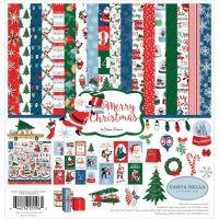 """Дизайнерски комплект хартии """"Весела Коледа"""", 30.5см, Carta Bella"""