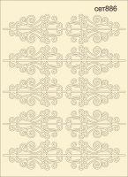 """Елементи от бирен картон """"Декоративни елементи"""", сет 886"""