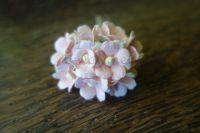 Цветя, бледорозово-бели, 10бр., 20мм