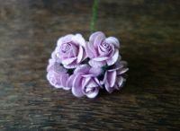 Рози, бледопурпурни, 25мм