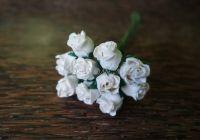 Разтворени пъпки на роза, бели, 10бр.