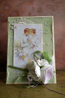 Сватбена картичка в резеда