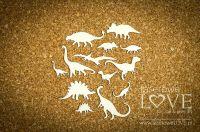 """Дизайнерски комплект от бирен картон """"Динозаври"""", Laserowe Love"""