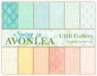 """Дизайнерски комплект хартии """"Пролет в AVONLEA"""", 30см, UHK Gallery"""
