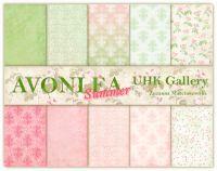 """Дизайнерски комплект хартии """"Лято в AVONLEA"""", 30см, UHK Gallery"""